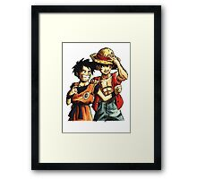 Monkey D. Luffy and Goku Framed Print
