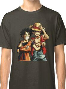 Monkey D. Luffy and Goku Classic T-Shirt