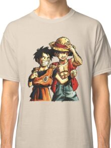 Monkey D. Luffy and Goku Classic T-Shirt