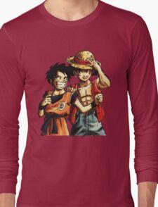 Monkey D. Luffy and Goku Long Sleeve T-Shirt