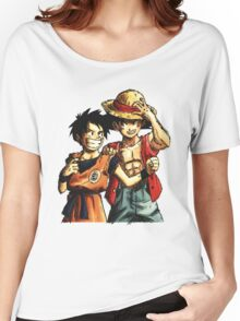 Monkey D. Luffy and Goku Women's Relaxed Fit T-Shirt