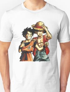 Monkey D. Luffy and Goku Unisex T-Shirt