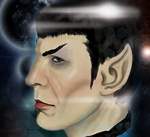 Grace your iPad with everyone's favorite Vulcan- Spock by Alex Mathews