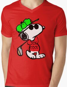 Joe Cool and Golf Mens V-Neck T-Shirt