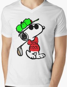 Joe Cool and Golf Mens V-Neck T-Shirt