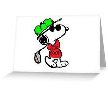 Joe Cool and Golf Greeting Card