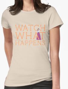 Newsies: Watch What Happens Womens Fitted T-Shirt