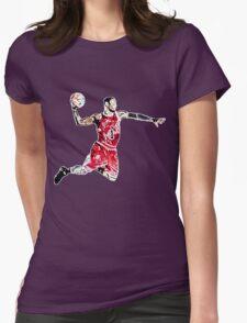Derrick Rose Shirt Design Womens Fitted T-Shirt