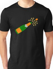 Champagne Bottle and Popping Cork Unisex T-Shirt