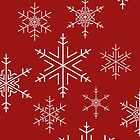 Snowflakes Red by Adam Wain