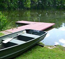 Half A Fishing  Boat by WildestArt