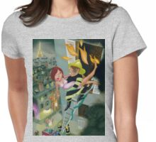 Paris, rescue me! Womens Fitted T-Shirt