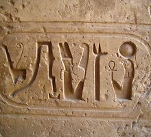 Egyptian Cartouche - Karnak by cnephtys