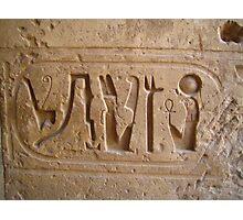 Egyptian Cartouche - Karnak Photographic Print