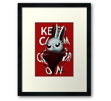 Keep Calm and Run from Angel Framed Print