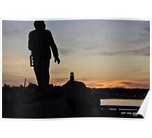 Statue silhouette Poster