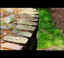 Old Red Brick Wall Design Detail - Upper Brookville, New York  by © Sophie W. Smith