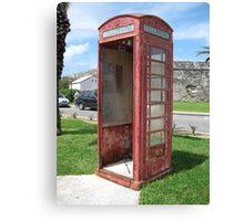 Bermuda Telephone Booth . . .  Canvas Print