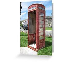 Bermuda Telephone Booth . . .  Greeting Card