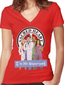 I'm no Superman - Scrubs Women's Fitted V-Neck T-Shirt
