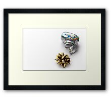 Gift Wrap Shiny Bow and Ribbon Framed Print