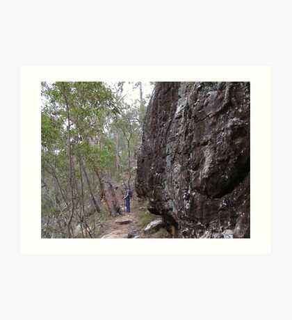 Following the Path! Cania Gorge, South East Queensland. Art Print