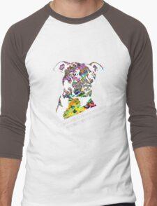 Pitbull BSL White Men's Baseball ¾ T-Shirt