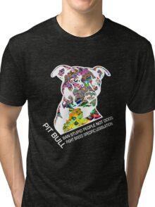 Pitbull BSL White Tri-blend T-Shirt