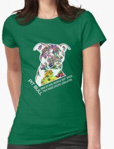 Pitbull BSL White Womens Fitted T-Shirt