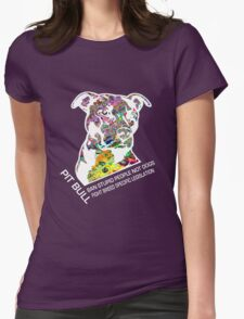 Pitbull BSL White Womens Fitted T-Shirt