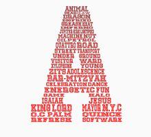 Word Association - Red Gradient Men's Baseball ¾ T-Shirt