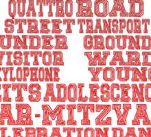 Word Association - Red Gradient Sticker