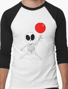 Skeleton and his Balloon Men's Baseball ¾ T-Shirt