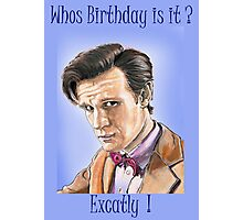 Doctor who birthday card Photographic Print