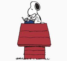 Typewriter Snoopy by CeaserTee