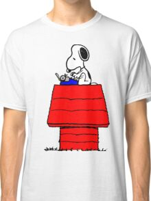 Typewriter Snoopy Classic T-Shirt