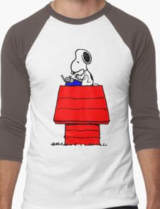 Typewriter Snoopy Men's Baseball ¾ T-Shirt