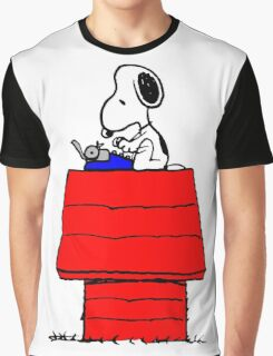 Typewriter Snoopy Graphic T-Shirt