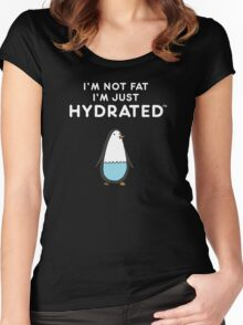 I'm Not Fat, I'm just Hydrated (Penguin) Women's Fitted Scoop T-Shirt