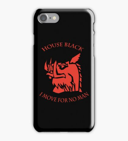 House Black iPhone Case/Skin