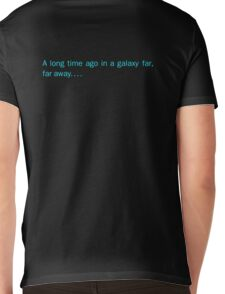 a long time ago in a galaxy far,far away.... (back) Mens V-Neck T-Shirt