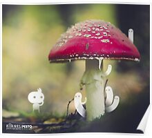 Under the red mushroom - Wandering forest 1 Poster
