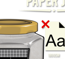 Homestyle Paper Jam Sticker
