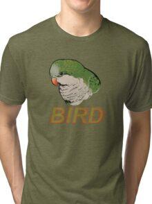 BIRD - Quaker Parrot (Green) Tri-blend T-Shirt