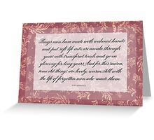 Things Men Have Made Greeting Card
