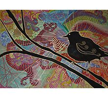 The Raven Lies in Wait Photographic Print