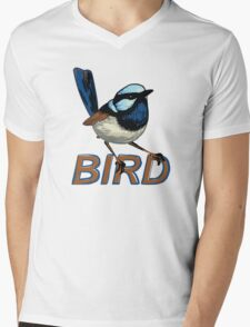 BIRD - Fairy Wren (Male) Mens V-Neck T-Shirt