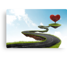 The road to Heart tree Canvas Print