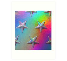 PSYCHEDELIC STARS. Art Print