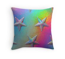 PSYCHEDELIC STARS. Throw Pillow